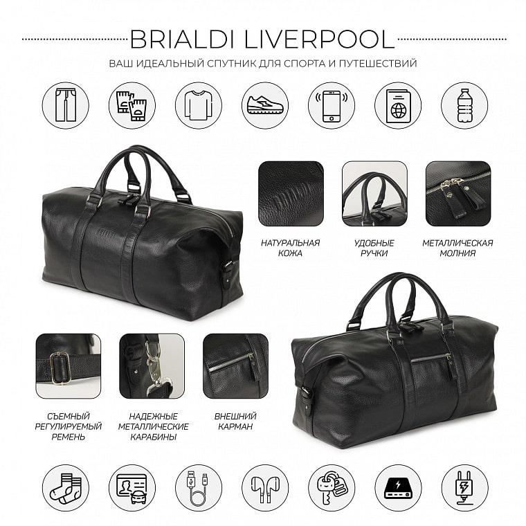 a6edb7efe2c5 Дорожно-спортивная сумка BRIALDI Liverpool (Ливерпуль) relief black ...