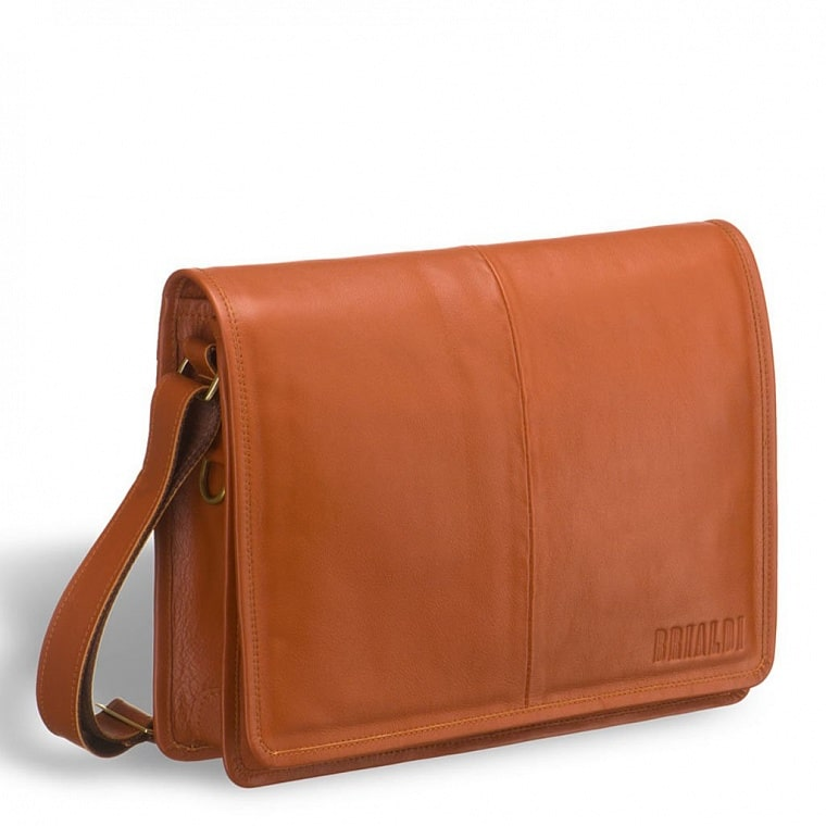 876f3d1d2106 Кожаная сумка через плечо BRIALDI Ancona (Анкона) whiskey купить по ...