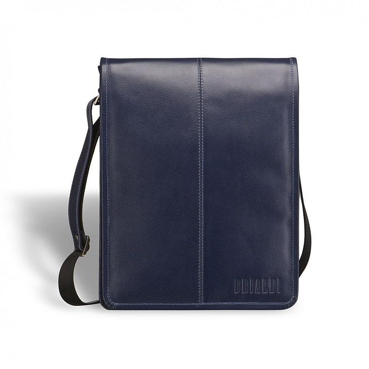 f6204c32a3c3 Кожаная сумка через плечо BRIALDI Boston (Бостон) navy купить по ...