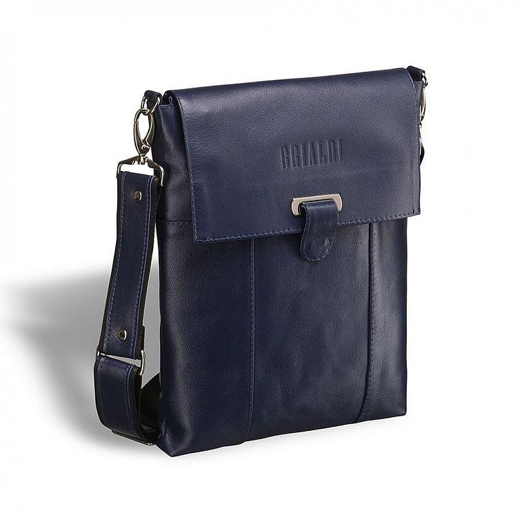 516fa18d4e8c Кожаная сумка через плечо BRIALDI Toronto (Торонто) navy купить по ...