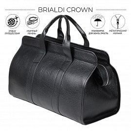 Дорожная сумка BRIALDI Crown (Краун) relief black