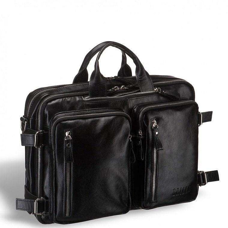 55169b60646b Мужская сумка-трансформер BRIALDI Norman (Норман) shiny black купить ...