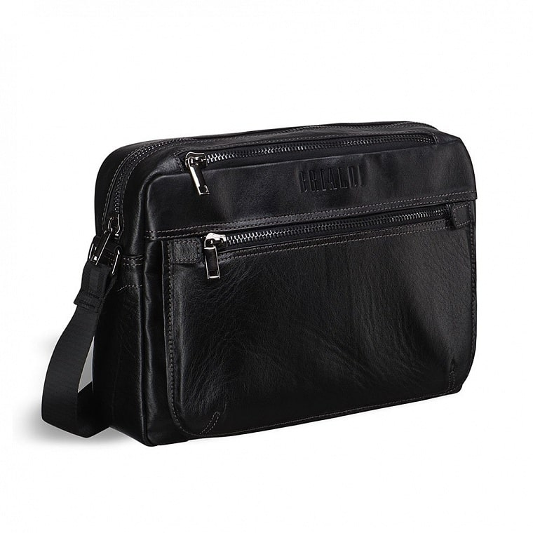 3eff89117493 Кожаная сумка через плечо BRIALDI Garland (Гарлэнд) black купить по ...