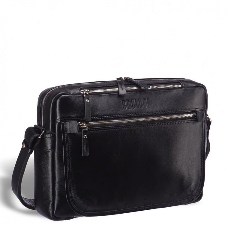 4f007b72822b Кожаная сумка через плечо BRIALDI Garland (Гарлэнд) black edition ...