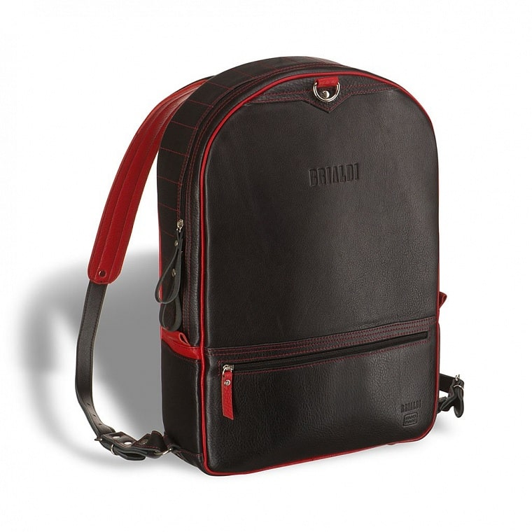ae92411c3c0e Кожаный рюкзак-трансформер BRIALDI Joker (Джокер) black and red