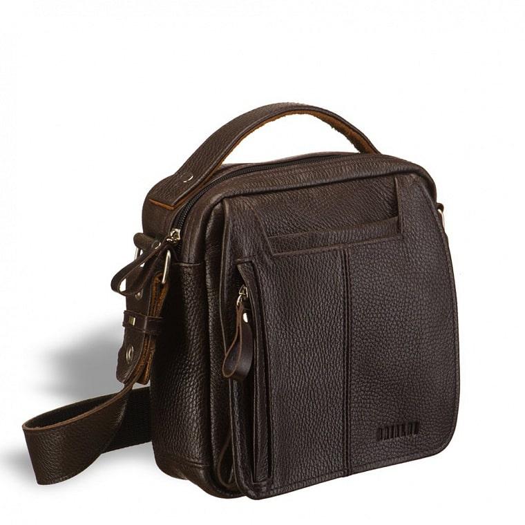 50d6688bd43b Кожаная сумка через плечо BRIALDI Vito (Вито) brown купить по самой ...
