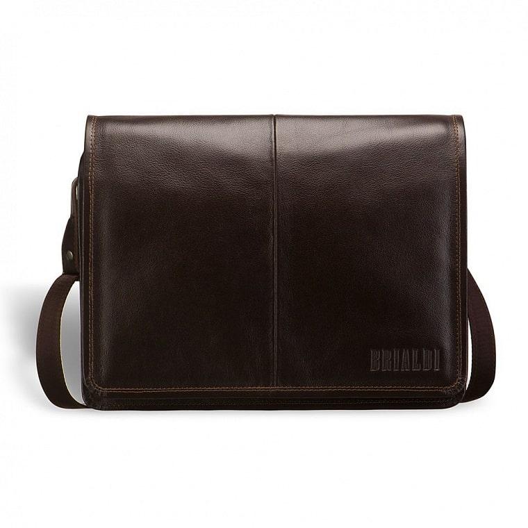 0c49890fec25 Кожаная сумка через плечо BRIALDI Ancona (Анкона) brown купить по ...