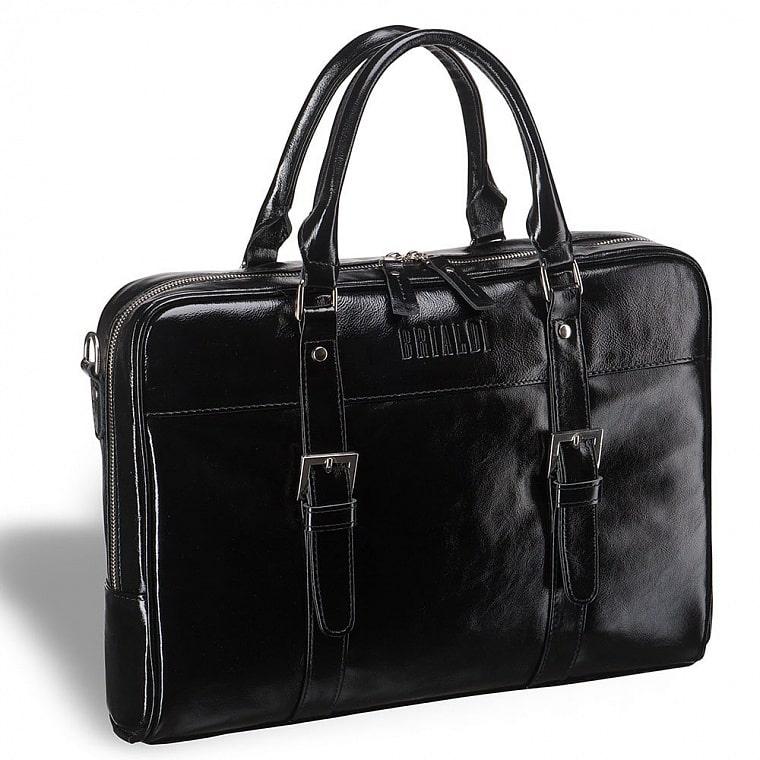 8efa63e558ca Деловая сумка для документов BRIALDI Darwin (Дарвин) shiny black купить по  приемлемой цене в интернет-магазине BRIALDI – доставка по Москве.