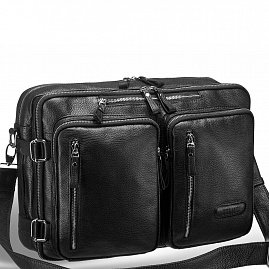 48682979da5f ... Мужская сумка-трансформер BRIALDI Norman (Норман) relief black - вид 3  ...