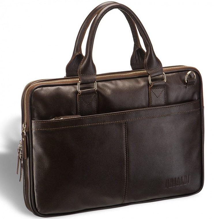 Деловая сумка BRIALDI Caorle (Каорле) brown купить по выгодной цене в интернет-магазине BRIALDI – доставка по Москве.