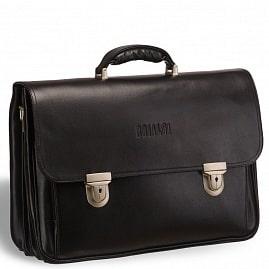 fde79ce18fb8 Объемный классический портфель для документов с 3-мя отделениями BRIALDI  Konstantin (Константин) black ...