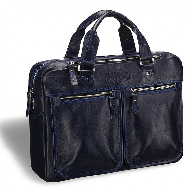 946bd0c40fd8 Деловая сумка для документов BRIALDI Parma (Парма) navy купить по ...
