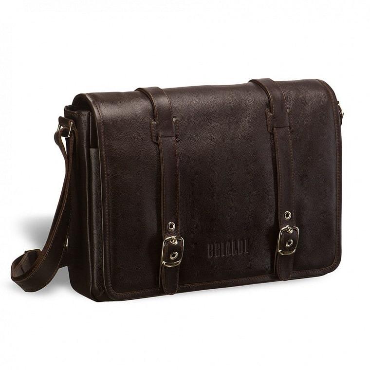 93f7e176d2d6 Кожаная сумка через плечо BRIALDI Turin (Турин) brown купить по ...