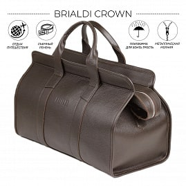 Дорожная сумка BRIALDI Crown (Краун) relief brown